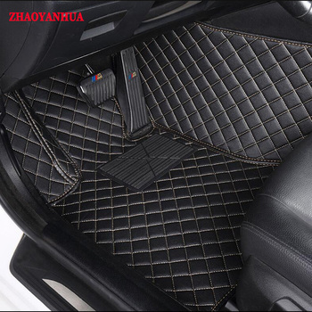 ZHAOYANHUACustom fit car floor mats for Ford F-150 Raptor Ford Kuga Escape Ecospor Fusion Mondeo Edge Explorer 5D  rugs liners