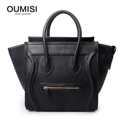 06bf665bd8 Crossbody Shoulder Tote Bag Large SIZE New Women Luxury Classic Designer  Celebrity Smile Face Smiley Handbag