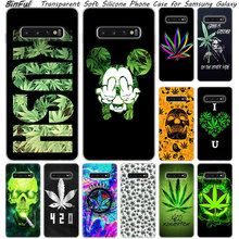 Abstractionism Art high weed Luxury Soft Silicone Case For Samsung Galaxy S10 S9 S8 Plus