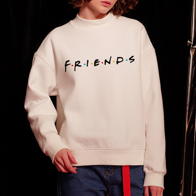 e6f7dbc34 Friend TV Show Letter Printed Women Turtleneck Hoodies Sweatshirts  Pullovers Shirts Hoodie Best Friends Matching Female Tops