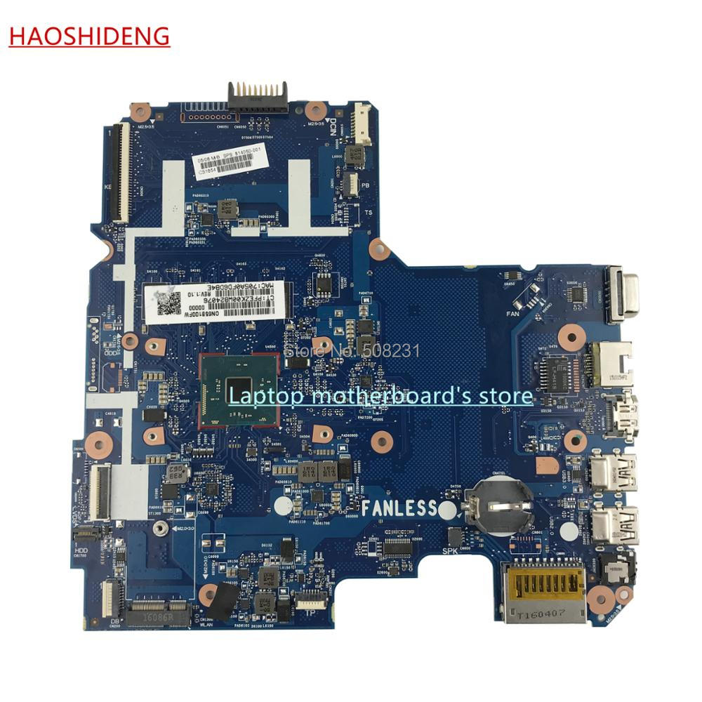 HAOSHIDENG 804050-001 814050-501 814050-601 for HP NOTEBOOK 14-AC 14-AC159NR laptop motherboard with CelN3050,fully Tested 744009 501 744009 001 for hp probook 640 g1 650 g1 motherboard socket 947 hm87 ddr3l tested working