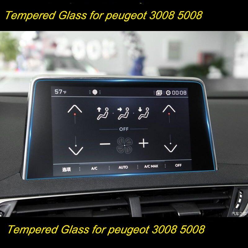 Film de protection voiture GPS Navigation verre trempé protecteur d'écran pour Peugeot 2008 3008 5008 3008GT 4008 2017-2018