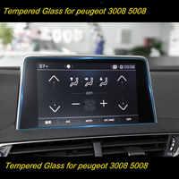 Pellicola protettiva Auto GPS di Navigazione Dello Schermo In Vetro Temperato Protector Per Peugeot 2008 3008 5008 3008GT 4008 2017-2018