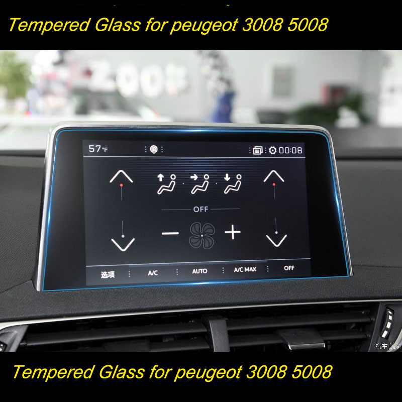 Protective Film Car GPS Navigation Tempered Glass Screen Protector For Peugeot 2008 3008 5008 3008GT 4008 2017 2018|Interior Mouldings| |  - title=