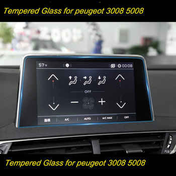 Protective Film Car GPS Navigation Tempered Glass Screen Protector For Peugeot 2008 3008 5008 3008GT 4008 2017-2018 image