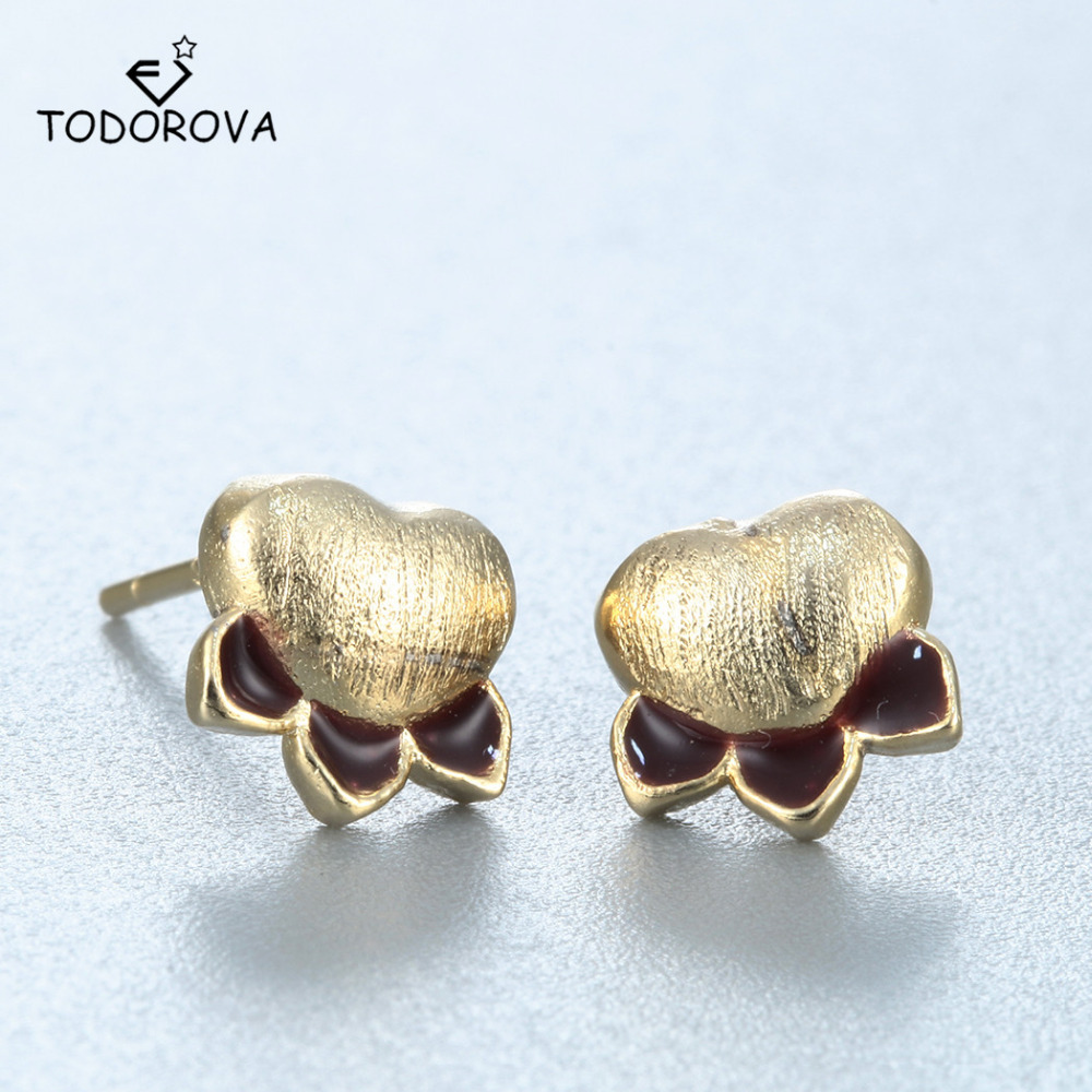 Todorova New Arrival Real Pure 925 Sterling Silver Cat Paw Earrings For  Women Girls Gift Statement