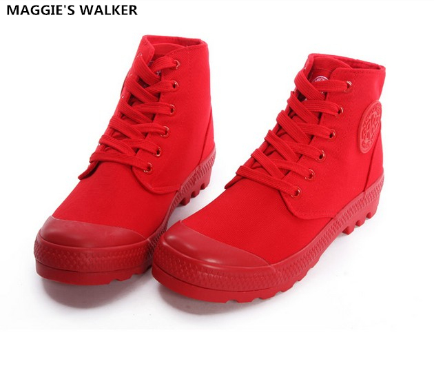 Maggie's Walker New Arrival Fashion Women's Casual Shoes Casual Canvas Shoes High-top Muffin Thick Crust Martin Shoes Size35~40