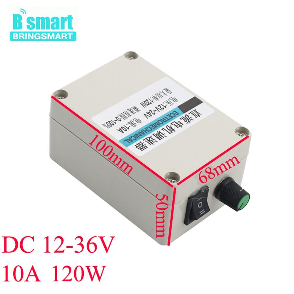 High Quatity 12V DC Motor Speed Controller 10A 12V-36V Forward Reverse Switch CW/CCW 120W Motor Speed Regulator 0-100% Speed цена