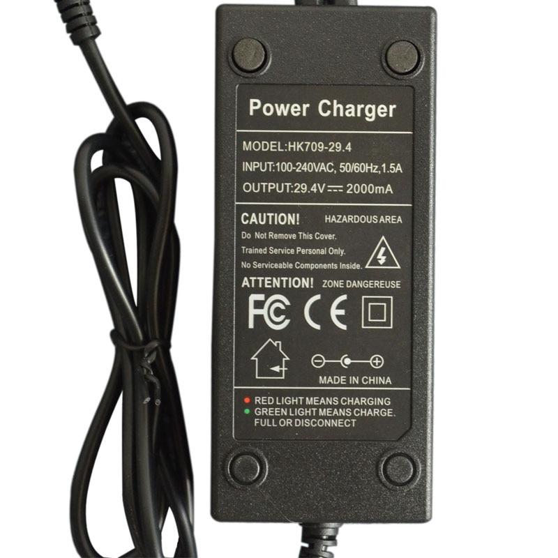 FCC ROHS approval balance font b electric b font scooter battery charger 24V 29 4V 2000mA