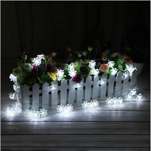 Solar Powered Outdoor String Lights 20 LED Lotus Flower Fairy Lamps for Garden Patio Lawn Garden Fence Path Landscape Christmas 5m 50leds battery powered led rope tube string lights fairy light waterproof outdoor christmas garden path fence tree lights