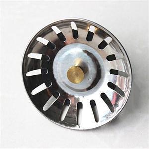 Kitchen Sink Basin Strainer Hair Trap Bath Plug Hole Waste Filter Strainer Steel
