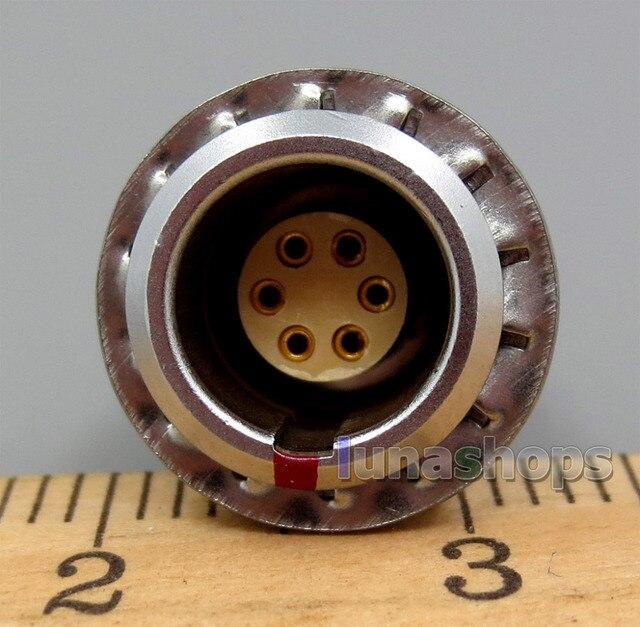 6pins Female Jack Audio DIY Custom Adapter For Shure KSE1500 Earphone Player