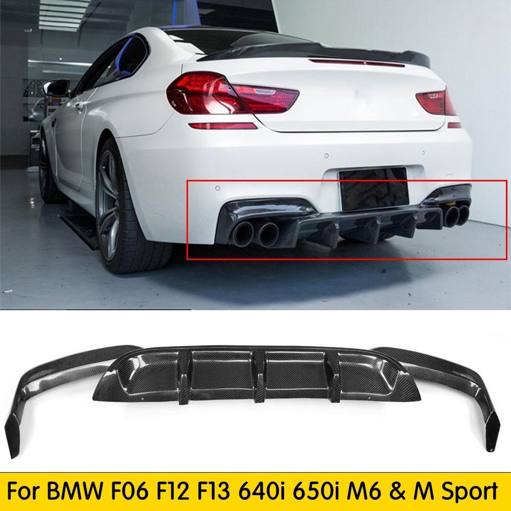 Задний диффузор F06 F13 M6 из углеродного волокна для BMW F06 F12 F13 640i 650i M-tech M-Sport & M6 бампер 2012 - 2016