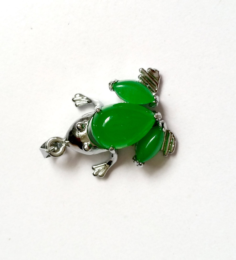 green with plating electroplating beryl copper ornamental pendant stone stones item
