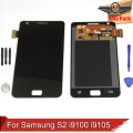 Substituição lcd para samsung galaxy s2 i9100 i9105 & p lcd screen display toque digitador assembléia