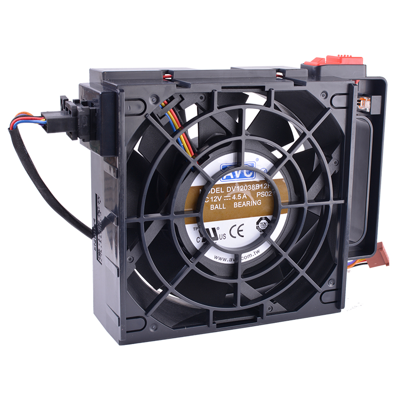 COOLING REVOLUTION DV12038B12H IBM Server TD530 Cooling Fan 120mm fan 12038 120x120x38mm 12V 4.5A ebm papst 4800z 4800 z ac 115v 0 16a 0 14a 13w 12w 120x120x38mm server square fan