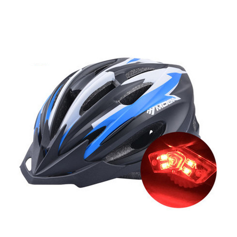 Professional MTB Bike Cycling Helmet Safety Light Tail Road Bike Helmet Ultralight EPS Bicycle Helmet Casco Ciclismo Capacete rockbros direct selling in mold mtb bike helmet with tail light casco ciclismo carretera usb luminous cycling equipment capacete