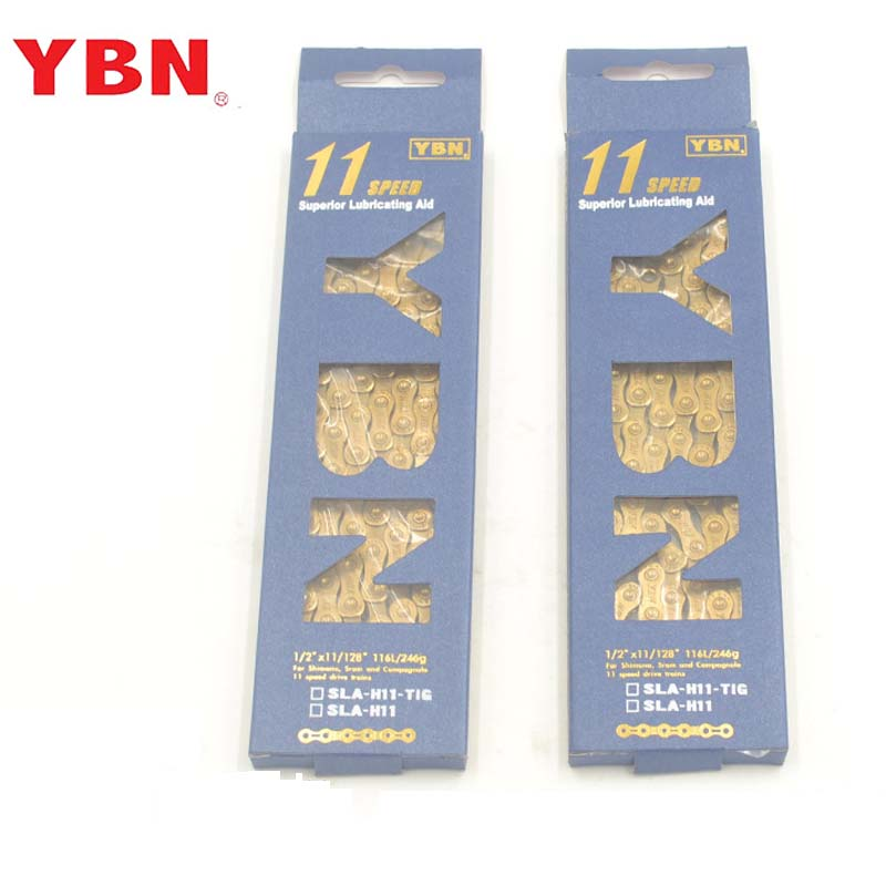 2017 YBN 11/22S Bike chain mtb road mountain bike bicycle chain titanium 11 Speed 116 Links with Chain Link outerdo 10 speed 116 link mtb mountain road bike stainless steel chain bike bicycle cycling chain for track bikes fixed gear