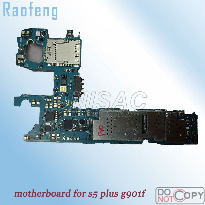 Raofeng Wcdma version  High quality motherboard For Samsung Galaxy s5 plus g901f  unlocked Mainboard well worked with chips(China)