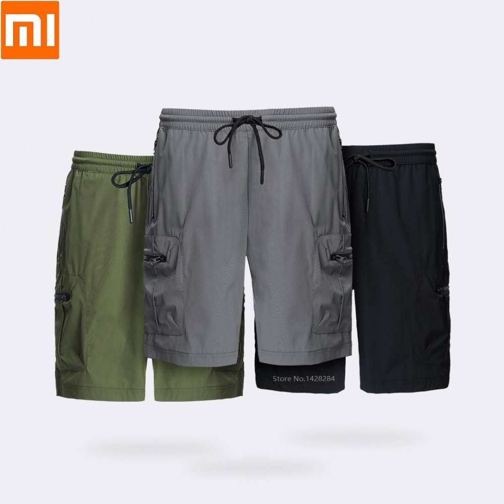 New Xiaomi ULEEMARK men s quick drying tooling shorts High elastic fabric Quick drying Breathable Multi