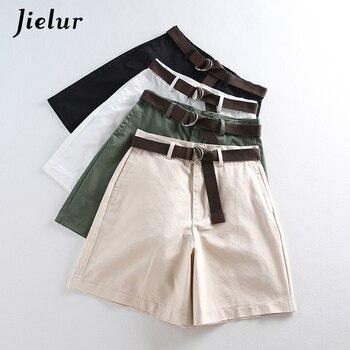 7d9376e418 2019 de ocio de verano delgada pantalones cortos para las mujeres de gran  tamaño ancho de la pierna pantalones cortos con cintura alta Mujer Vestido  corto ...