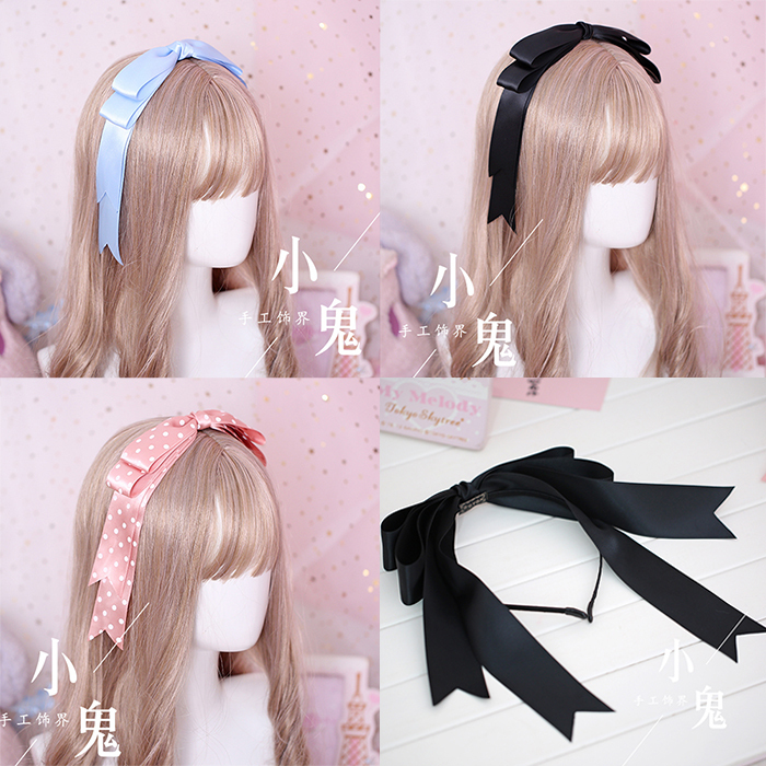 Japanese Girl Handmade Oversized Headband DIY Bow Hair Accessories Headdress Lori Lolita Mengniang COS Headband