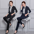 Formal Pantsuits For Ladies Office Autumn Winter Professional Work Wear Suits With Jackets And Pants Womens Trousers Set S-3XL