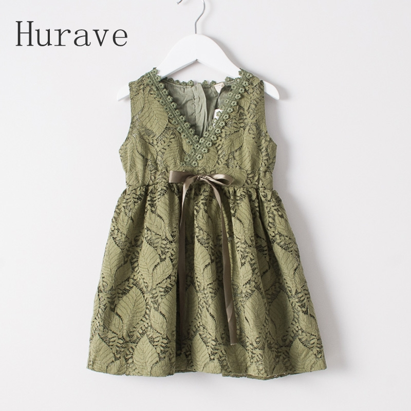 Подробнее о Hurave Lace girls dress girl summer clothing cute kids clothes robe fille princess v neck dresses baby girl dress 2016 brand girls summer dress children clothing lemon print kids dresses for girls clothes robe princesse fille