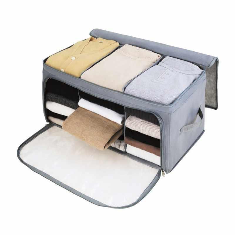 Foldable Storage Bag Clothes Blanket Quilt Closet Sweater Travel Luggage Underwear Organizer Box Pouch Home Storage Accessories