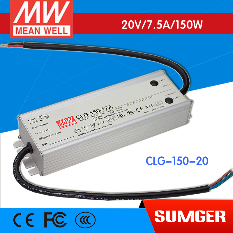 1MEAN WELL original CLG-150-20 20V 7.5A meanwell CLG-150 20V 150W Single Output LED Switching Power Supply meanwell 24v 150w ul certificated clg series ip67 waterproof power supply 90 295vac to 24v dc