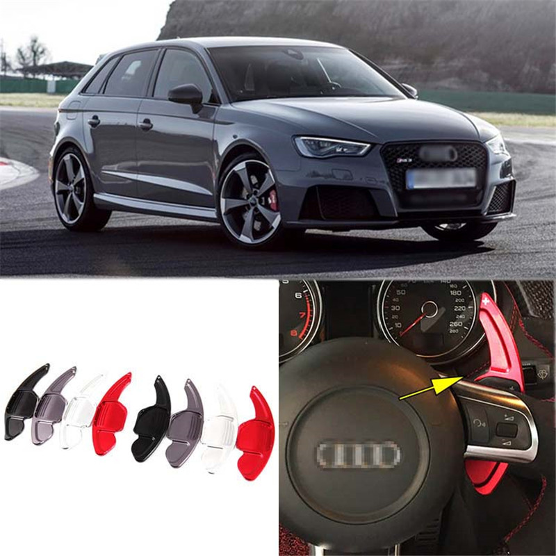 Savanini 2pcs Alloy Add-On Steering Wheel DSG Paddle Shifters Extension For Audi RS3