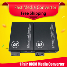 100Mbps Media Converter Fast Ethernet Fiber Optic To RJ45 SC Connector For Chassis ethernet switch ftth