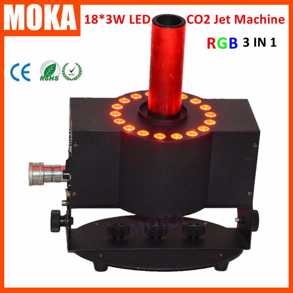 1 pcs stage effect co2 cannon DMX led co2 jet machine party cannon co2 jet led rgb 3 in 1 free co2 hose for dj stage led par 2016 new co2 jet machine moka mini co2 pistol handhold co2 gun fx stage effect machine for dj club with 3m hose