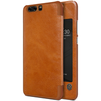 P10 Plus Case Nillkin Vintage Qin Flip PU Leather Hard Plastic Back Cover For Huawei P10