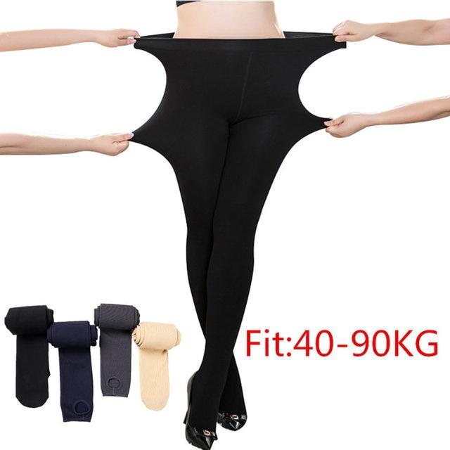 4ad74a30846 High Elastic Plus Size Women Leggings Super Big Sizes Legging Black  Flesh-colored Navy blue Gray Warm Ribs Pants