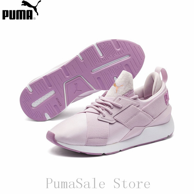 3ccb6949404734 PUMA Muse Satin II Women s Textile Shoes Athletic Lace Up Training Sneakers  368427 X-Strap EP Silk Sport Badminton Shoes 35.5-39