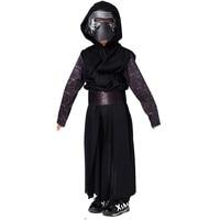 Boys Deluxe Star Wars The Force Awakens Kylo Ren Classic Cosplay Clothing Kids Halloween Movie Costume