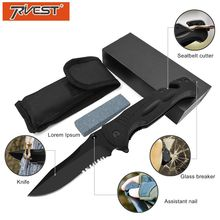 PRIVEST G10 Multifunction Folding Knife Tactical Survival High Hardness Blade Portable Combat Military Hunting Multitool
