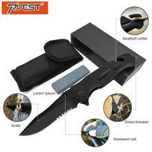 PRIVEST G10 Multifunction Pocket Folding Knife Tactical Survival High Hardness Blade Portable Combat Military Knife Hunting