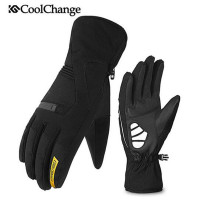 CoolChange Bicycle Gloves Warm Waterproof Cycling Gloves Full Finger Thermal Outdoor Waterproof Warm Long Finger MTB Bike Gloves