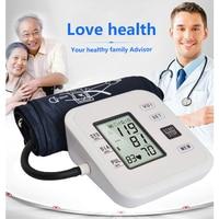 LCD Digital Automatic Arm Blood Pressure Monitor Tonometer Meter Sphygmomanometer Portable Tensiometro Cuff Health Partner