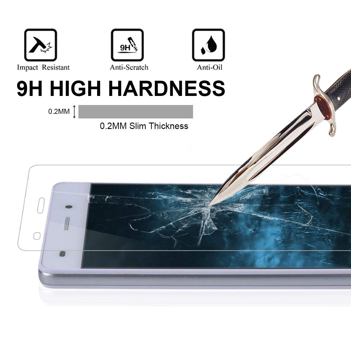 Image 3 - Premium Tempered Glass For Huawei P8 Lite 2016 Screen Protector Huawei P8 Lite Protective Film ALE L04 L02 L21 CL00 TL00 Glass-in Phone Screen Protectors from Cellphones & Telecommunications