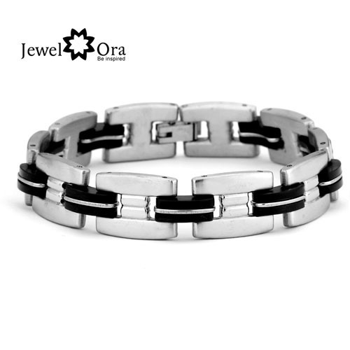 Wholesale  Fashion Chain Bracelet Charm Wrap Bangle Wristband 304 Stainless Steel Men's Bracelet (JewelOra BA100170)