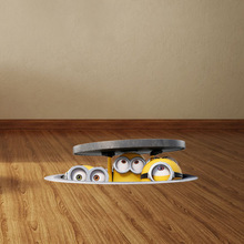 3D Sewer Minions Wall Stickers for Kids Rooms and Kindergarten PVC Car Stickers Despicable Me Poster Home Decor