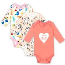 3PCS/LOT Unisex Top Quality Baby Rompers Short Sleeve Cottom O-Neck 0-24M Novel Newborn Boys&Girls Roupas de bebe Clothes