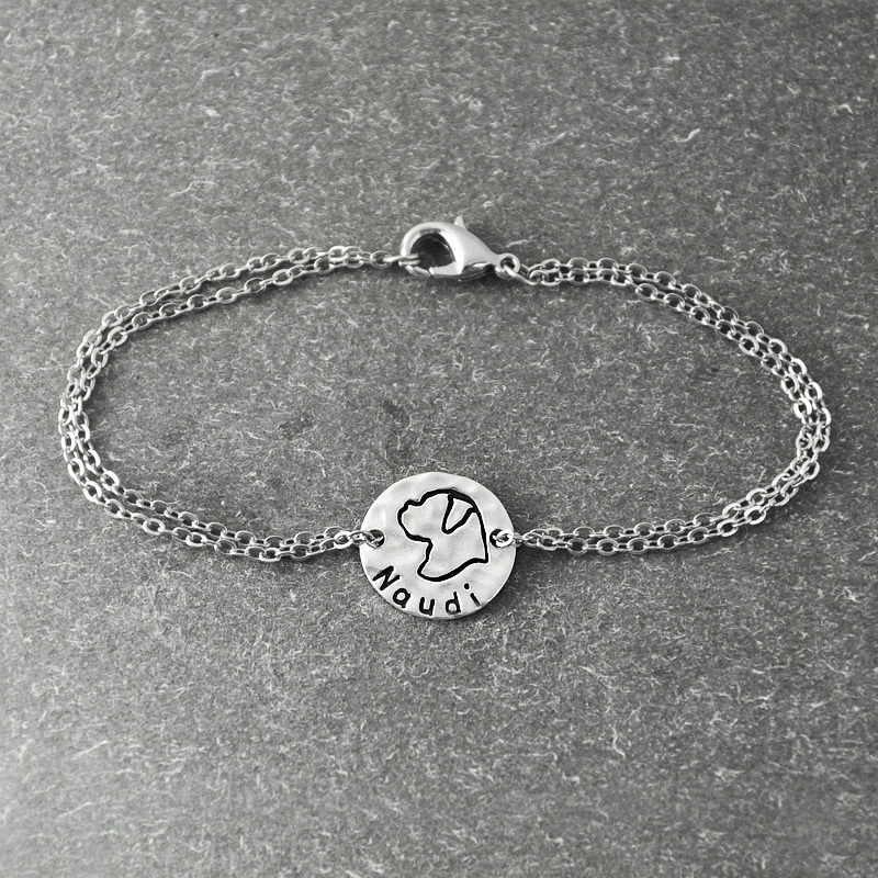 Boxer bracelet, Personalized Dog Bracelet ,alloy Dog Pendant, Personalized Pets name, Dog Lover Gift, dog bracelet