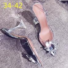 34-42; пикантные босоножки на высоком каблуке; женская свадебная обувь серебристого цвета со стразами; вечерние туфли на высоком каблуке; Летние босоножки на высоком каблуке