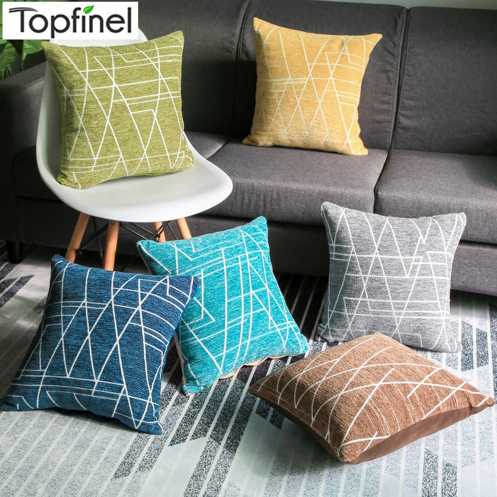 Fine Us 7 99 50 Off Topfinel Cotton Linen Durable Cheap Chenille Cushion Covers Geometric Decorative Throw Pillows Cases For Sofa Home Car 45X45Cm In Interior Design Ideas Clesiryabchikinfo