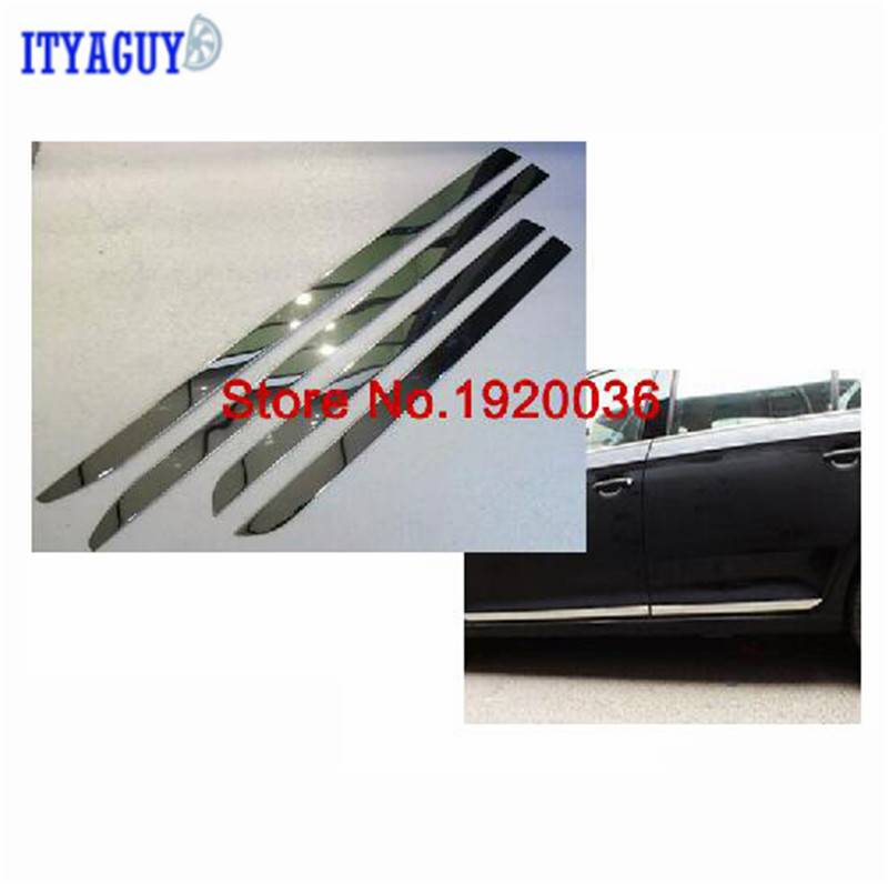 Car styling Chrome Body Side Door Trim Molding Exterior cover for VW JETTA 2013 car styling abs chrome body side moldings side door decoration for hyundai ix35