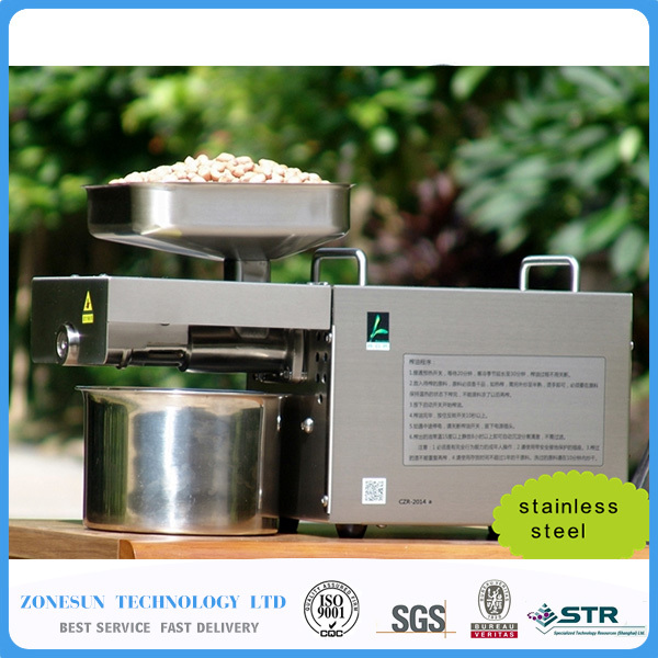 ZONESUN Commercial Grade Seed Nut Oil Press Machine Nut Seed Automatic Stainless All Steel Presser High Oil Extraction 110v or 220v oil press machine nut seed automatic stainless all steel presser high oil extraction